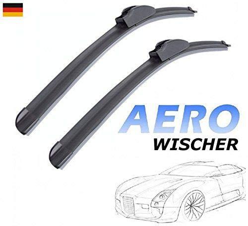 600mm 400mm GOOD WIPER AERO 2x Front Scheibenwischer Flachbalkenwischer mit Hakenbefestigung Wischerblätter Set für Auto Frontscheibe INION