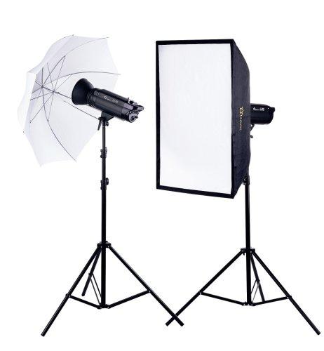 Cámara de fotos Flash de estudio de flash Kit con 2x 300W/S...