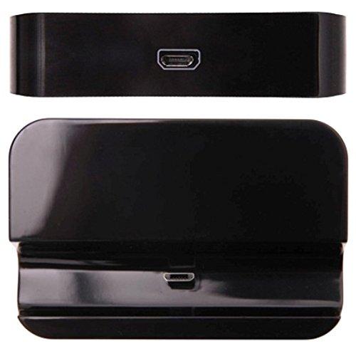 Ebest-Docking Station di ricarica micro USB nero per Samsung Galaxy Ace Duos S6802
