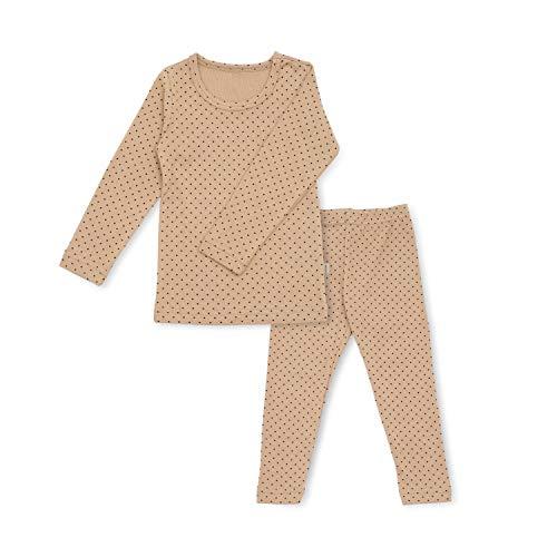 Baby Boys Girls Polka dot Pajama Set 6M-8T Kids Toddler Snug fit Cotton Sleepwear (I-Beige Large(100)/3T)
