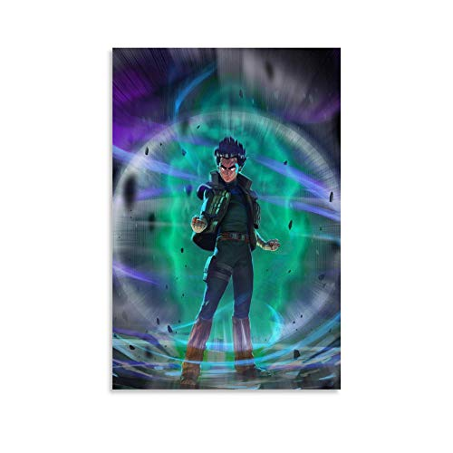 FANGJIA Anime Poster Rock Lee 6th Gate Poster Decorative Painting Canvas Wall Art Living Room Posters Bedroom Painting 12x18inch(30x45cm)