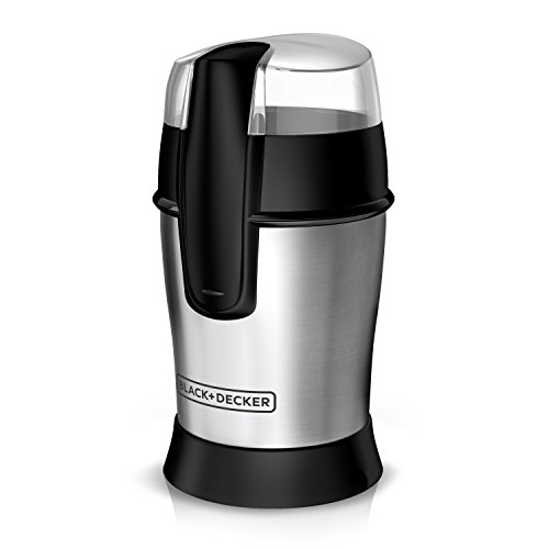 Black+Decker Bean Coffee Grinder, Other-Size, White,Stainless