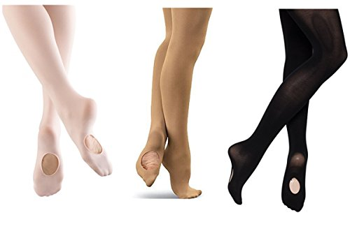 Cpdance(TM) Women's Girl's Ultra Soft Convertible Dance Tights (Medium(Adult), Tan)