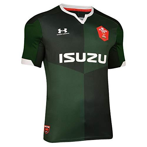 Under Armour Wales 2019/20 Kinder Rugby Union Trikot Rugby Trikot Grün Gr. L, grün