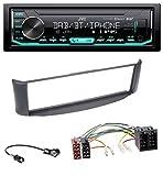 caraudio24 JVC KD-X451DBT DAB Bluetooth MP3 USB Autoradio für Smart ForTwo 450 grau ohne Metallschacht