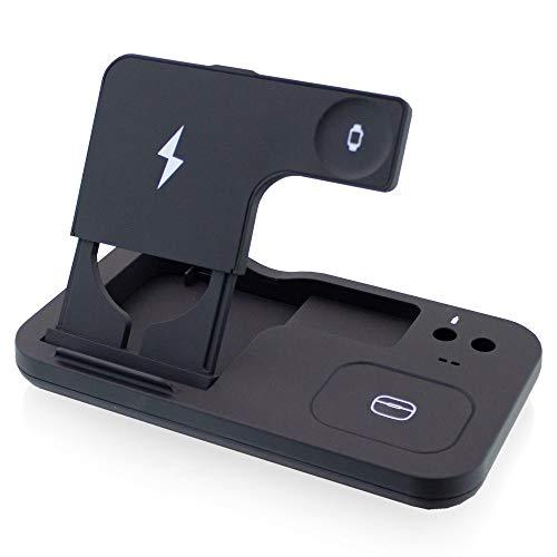 Estación de carga Inovus por inducción, cargador, adaptador de corriente, inalámbrico, cargador para teléfono móvil, tableta, adecuado para Samsung Apple