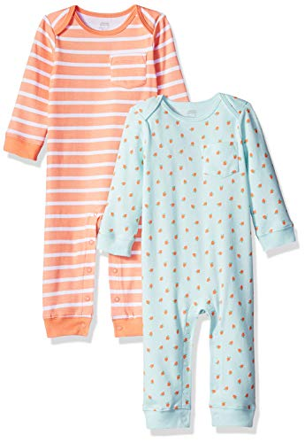 Amazon Essentials Baby Mädchen Overall, 2er-Pack, Girl Fruit, US 24M (EU 86–92)