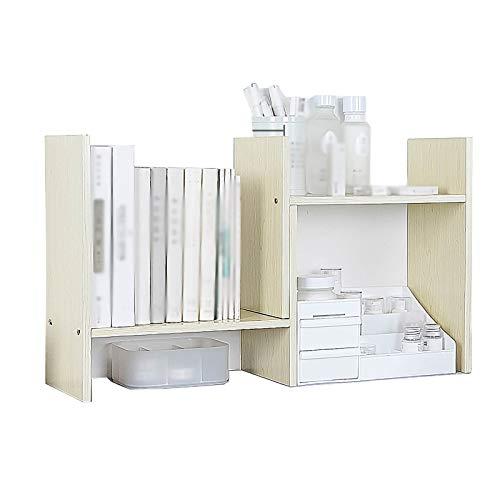 Regał Na Książki Dormitorium Półka biurkowa, biblioteczki wielowarstwowe, prosta mała regała PTY (Color : White maple color)