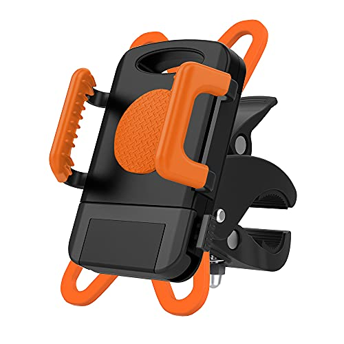 Supporto Telefono Bicicletta, Porta Cellulare Bici 360° Rotabile Universale Supporto Smartphone per Bici, passeggini, carrelli della spesa, 9.4cm*7.5cm*11.5cm