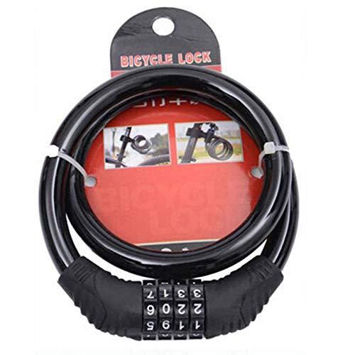 LZWOZ Bicycle viercijferige wachtwoord Lock anti-diefstal Lock Mountain Bike Color Lock Dode Vlieg fiets Elektrische Motorcycle (Color : Black)