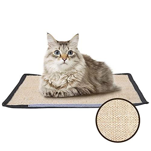 Nobleza - Rascador para Gatos, Muebles Alfombrilla de Rasguño, Muebles Patas Mesa Sillas Protector contra Arañazos Mascotas,Afilador de uñas de sisal para Protector Esquina de sofá o sillón 40 x 30 cm