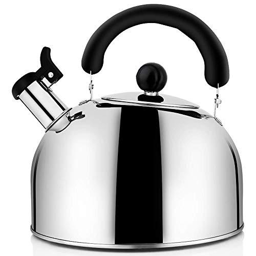 Essenc Tea Kettle Stovetop Whistling Tea Pot, Steel Tea Kettles Tea Pots For Stove Top, 4.3Qt(4-Liter) Large Capacity With Capsule Base