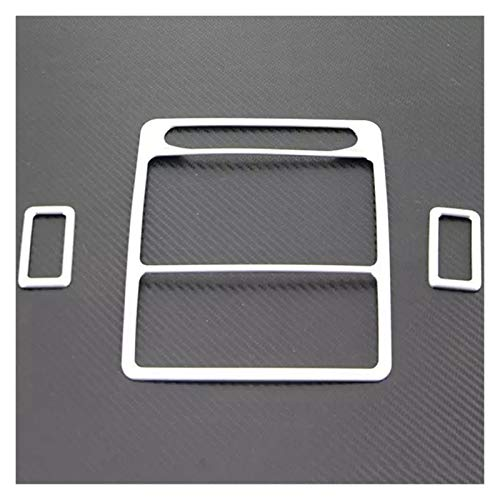 HUAER Para Accesorios de Coche Styling Front Reading Light Frame Trim Trasero Ajuste Ajuste para Land Rover Discovery Sport 4 2016 (Color Name : Silver)