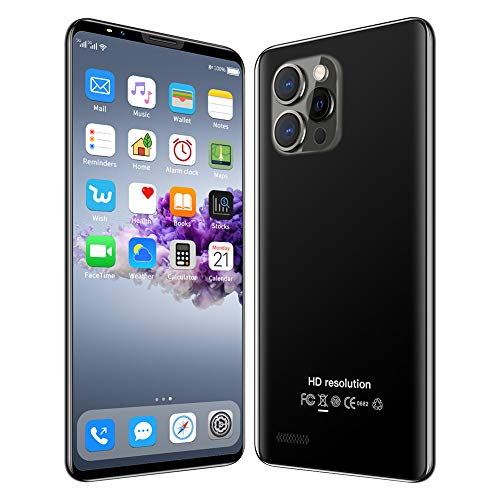 LNX Teléfono Inteligente Android, Teléfonos móviles Baratos, Teléfono Desbloqueado con Face ID, 1 GB de RAM + 4 GB de ROM, Doble SIM, Memoria Ampliable, Pantalla HD de 4.0 Pulgadas