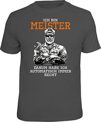 RAHMENLOS Original T-Shirt für Meister: Ich Bin Meister, und Habe automatisch Recht