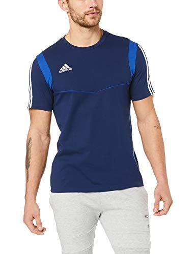 adidas T-Shirt de Football Manche Courte pour Homme, Taille 4XL/L, Bleu Foncé/Bleu Audacieux