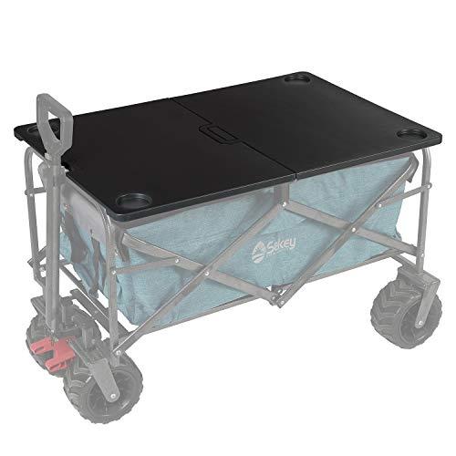 Sekey Zusammenklappbar Tisch für Bollerwagen, Bollerwagen Klapptisch, tragbarer Klappkarten Tisch, Wagen Zubehör