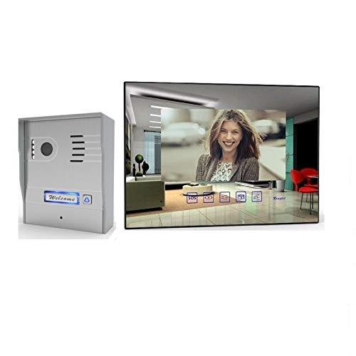 2 Draht Video Türsprechanlage Gegensprechanlage mit 7'' Monitor Aufputz, Farbe: Ohne, Größe: 1x7'' Monitor