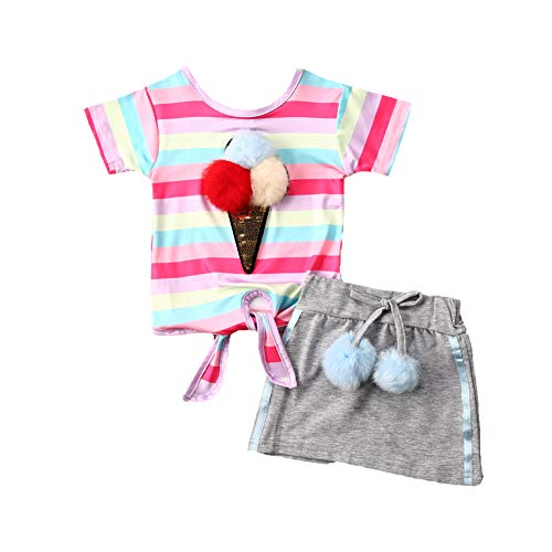 Toddler Baby Girls Outfits Ice Cream Short Sleeve Tops T-Shirts  Missouri