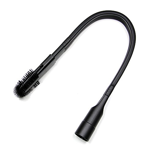 MaximalPower 25-inch Flexible Long Reach Crevice Tool Attachment 1.25 inches with Removable Brush Head (does not fit Sharks Vacuum with button lock. Check your vacuum hose diameter before purchase)
