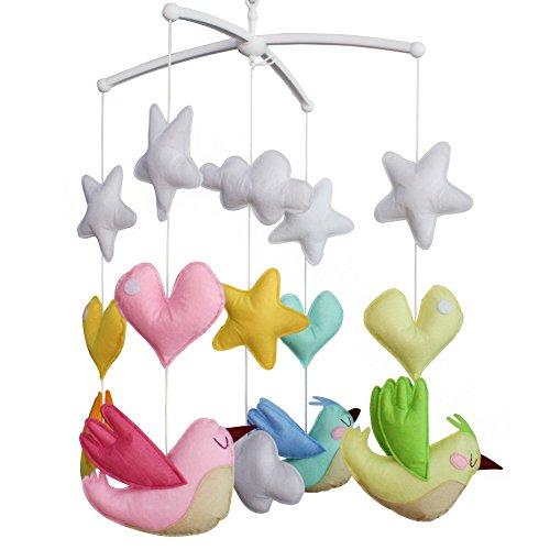 Berceau de lit de bébé rotatif coloré jouets de bébé [Oiseaux volants]