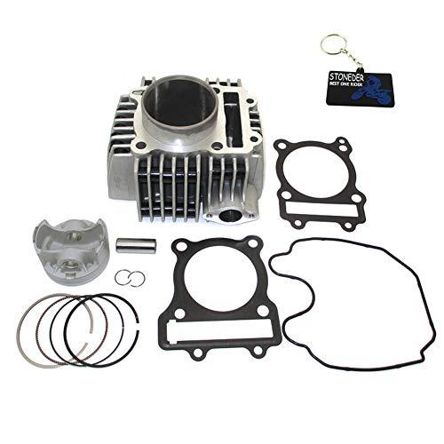 STONEDER Kit de pistón de cilindro de 62 mm para motor Daytona Anima 4 V 150 cc 190 cc FLX FDX FE