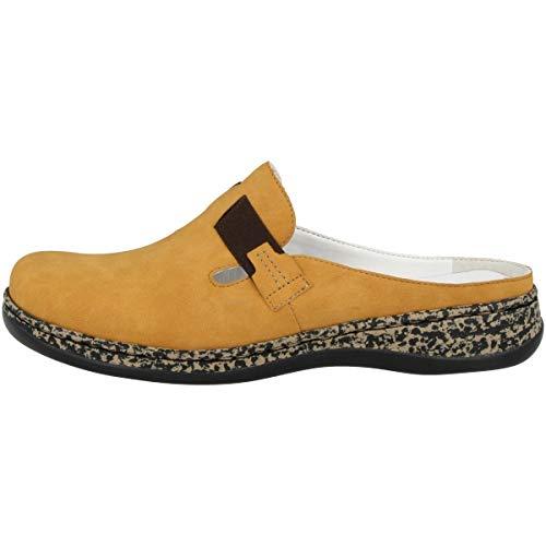 Rieker Damen Clogs Gelb, Schuhgröße:EUR 38