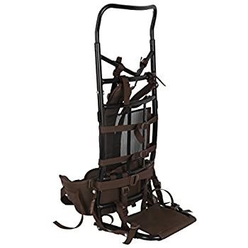 Timber Ridge TR Hunting Camping Backpack with Light Weight Aluminum Frame Brown 35.8 x 6.7 x 15.7 inches
