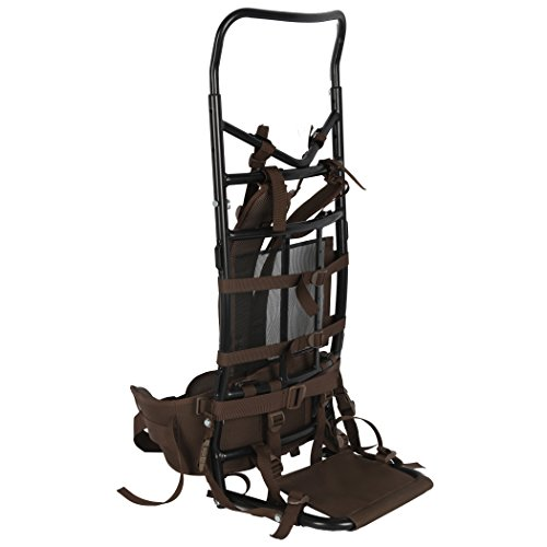 Timber Ridge Hunting Camping Backpack with Steel Frame, Brown, 35.8 x 6.7 x 15.7 inches