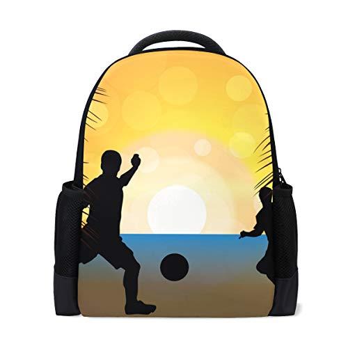 FANTAZIO Mochila para playa, fútbol, atardecer, escuela, mochila