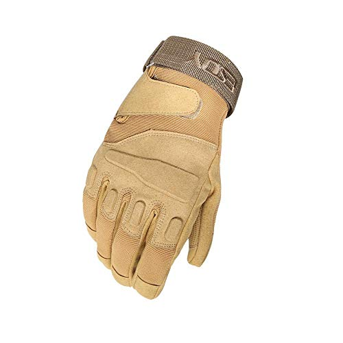 QIKAI Taktische Outdoor Black Hawk Fingers Special Forces Taktische Outdoor-Handschuhe Hellstorm Tactical Gloves Beige-XL