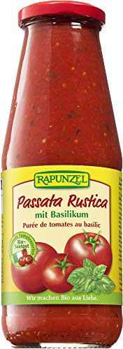 Rapunzel Bio Passata Rustica mit Basilikum (6 x 680 gr)