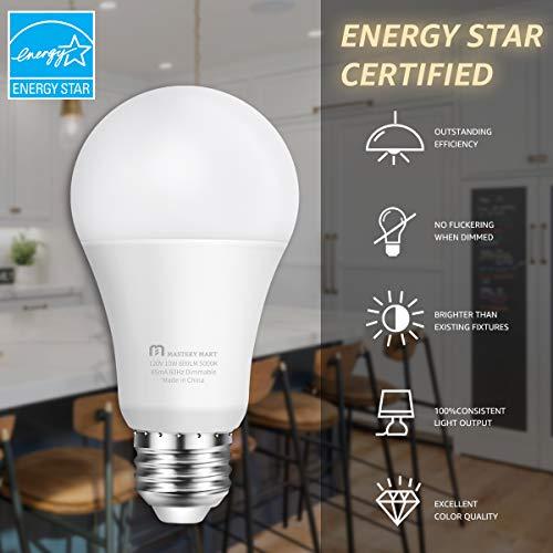 Mastery Mart 10 Pack of A19 LED Light Bulbs