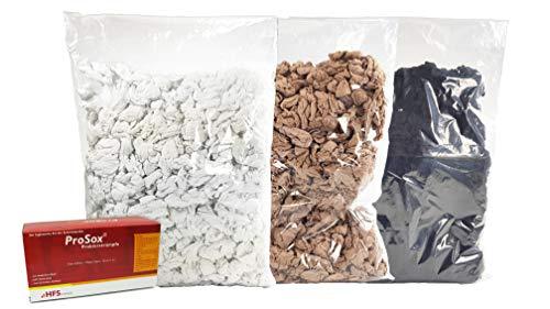 Kunststofftechnik Vlotho - Das Original! ProSox Probierstrümpfe Nachfüllbeutel, 10DEN, hautfarbig, schwarz oder weiß wählbar, 500 Stück inkl. kostenloser Spenderbox