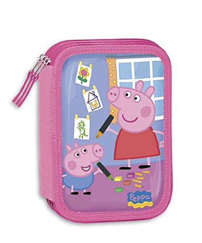 ASTUCCIO TRIPLO PEPPA PIG ROSA