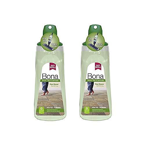 Bona 34 oz. Stone, Tile, and Laminate Floor Cleaner Cartridge, Pack of 2