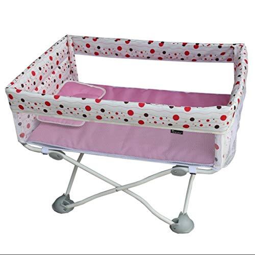 Love lamp Babybetten Klappreisebabybett Leichtes Kinderbett Kann Auf Flugzeug Babybett Mini Nachttisch Mit Moskitonetz Nehmen Baby- Kinderbetten (Color : F)