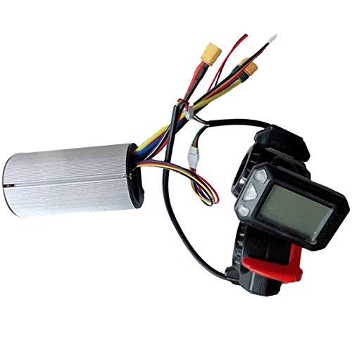 Iycorish Controlador Freno Pantalla LCD 24V 250W Controlador de Scooter EléCtrico Motor Sin Escobillas Accesorio de Bicicleta EléCtrica