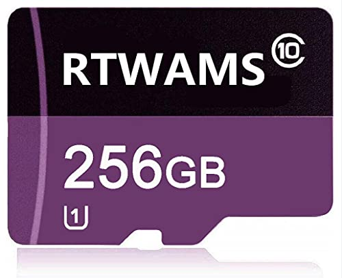 RTWAMS Micro SD Card 256GB Class 10 Micro SDXC Card TF Card C10 Memory Card with Free SD Adapter for Android Smartphone/Bluetooth Speaker/Tablet/Drone (256GB)
