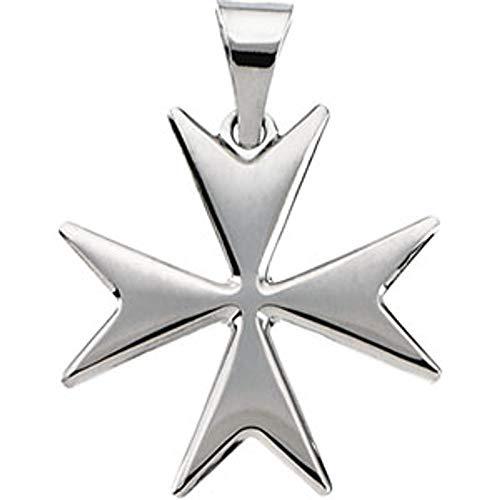 14ct Yellow Gold Maltese Cross Pendant Necklace