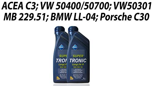 ARAL SuperTronic Longlife III 5W-30 2x1 Liter Super Tronic Motor-Öl Motoren-Öl