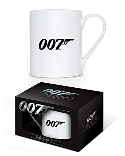 James Bond MGBC23559 (007 Logo) Bone China Mug, Céramique, Multicolore, 11oz/315ml