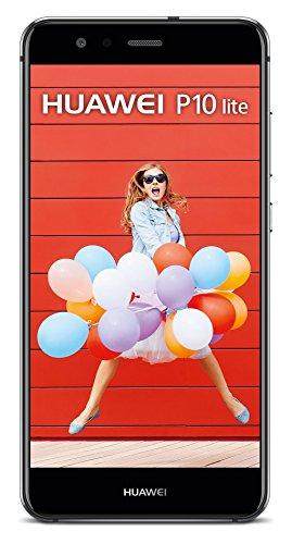 HUAWEI P10 lite Dual-SIM Smartphone (13,2 cm (5,2 Zoll) Touch-Bildschirm, 32 GB interner Speicher, Android 7.0) Schwarz