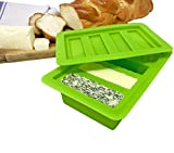 Non-Stick Silicone Butter Mold with a Lid - Easy Butter Maker for Homemade Butter, Herbed, Garlic and Cannabis Butter - BPA Free