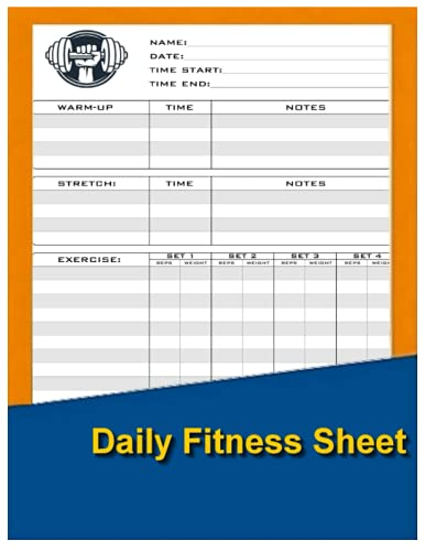 Daily Fitness Sheet