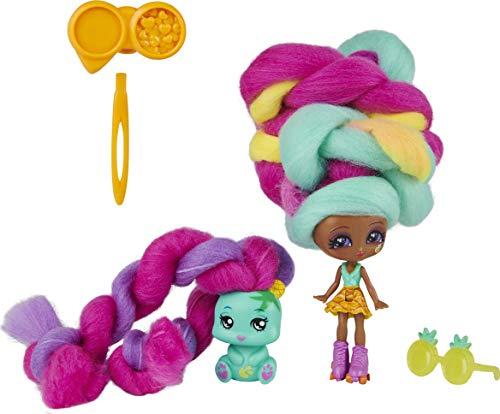 Candylocks 6056827 - Mina Colada Haarspielpuppe 7,5 cm mit Tier