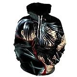 KMNL-Naruto Anime 3D Impresa Sudadera Capucha, Itachi Uchiha Sasuke Kakashi Sharingan Casual Sweatshirts, Mangas Largas, Unisexo-7_XXS