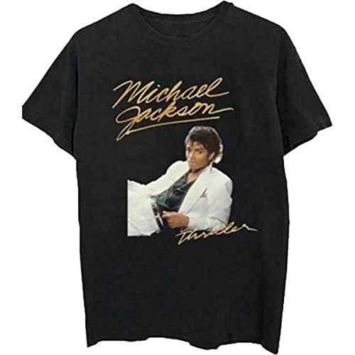 Rockoff Trade Herren Michael Jackson Thriller White Suit T-Shirt, Schwarz (Black Black), Medium