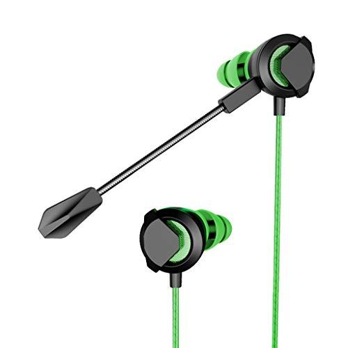 Super Bass Headset,Sacow HiFi Earphone Dual Dynamic Driver Headphone Stereo Headset with Mic (Green)