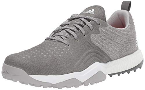 adidas Men's Adipower 4ORGED S Golf Shoe, Grey Two/Grey Four/raw Amber, 9.5 M US